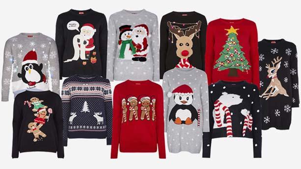 Gran cantidad de jerseys navideños