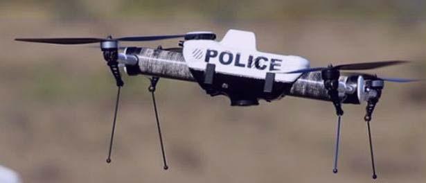 La policia usa drones